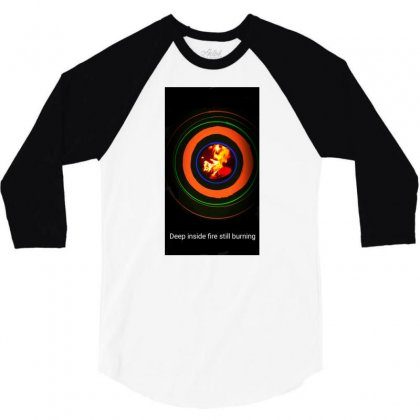 Fire Inside 3/4 Sleeve Shirt Designed By Sahil Sabharwal