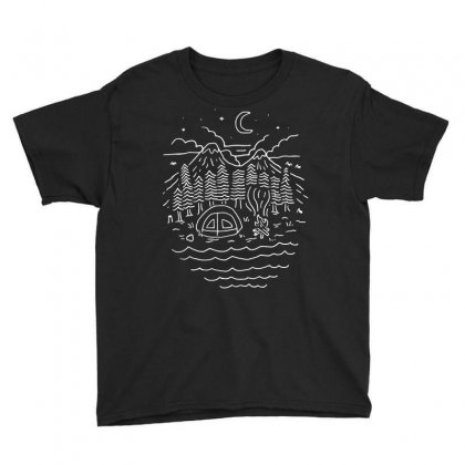 The Great Outdoors (for Dark) Youth Tee Designed By Quilimo