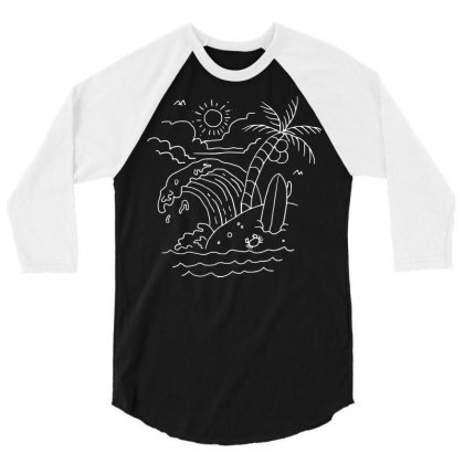 The Waves Are Calling (for Dark) 3/4 Sleeve Shirt Designed By Quilimo