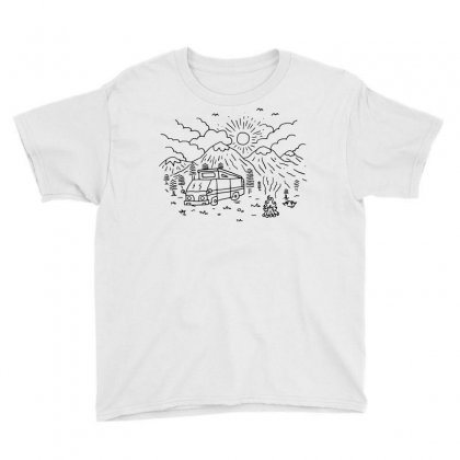 Wander (for Light) Youth Tee Designed By Quilimo