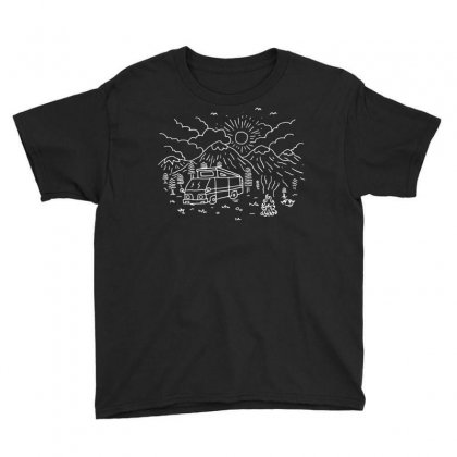 Wander (for Dark) Youth Tee Designed By Quilimo