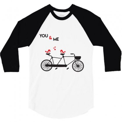 No And Me Byecle T Shirt 3/4 Sleeve Shirt Designed By Hung