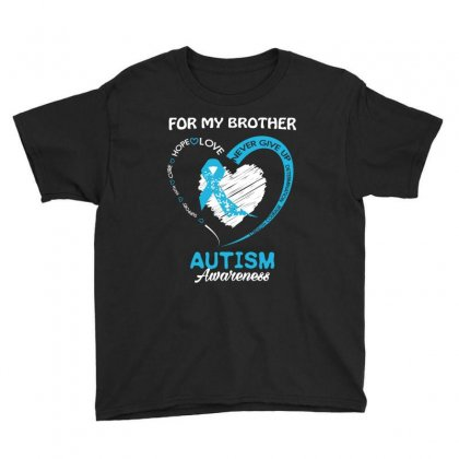 For My Brother Autism Awareness T Shirt Youth Tee Designed By Hung