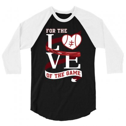 For The Love Of The Game Tennis T Shirt 3/4 Sleeve Shirt Designed By Hung