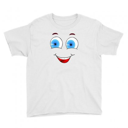 Smiley Face Laugh Comic Funny Youth Tee Designed By Salmanaz