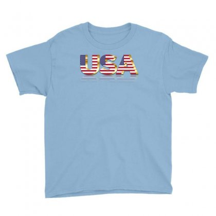 Usa United States America Flag Youth Tee Designed By Salmanaz