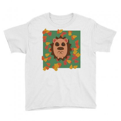 Hedgehog Animal Cute Cartoon Youth Tee Designed By Salmanaz