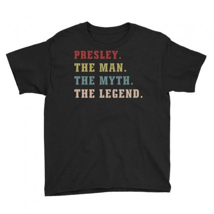 Presley The Man The Myth The Legends Youth Tee Designed By Artees Artwork