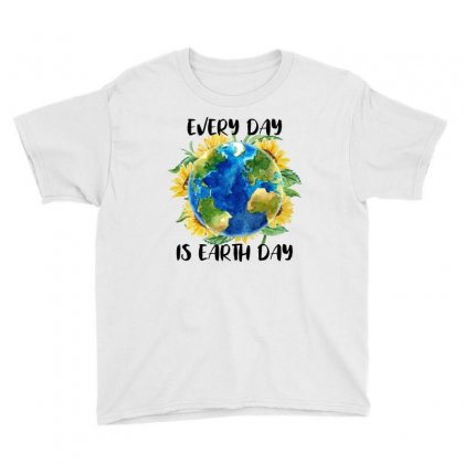 Every Day Is Earth Day For White Youth Tee Designed By Sengul
