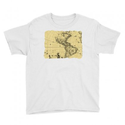 Map Vintage Old Ancient Antique Youth Tee Designed By Salmanaz