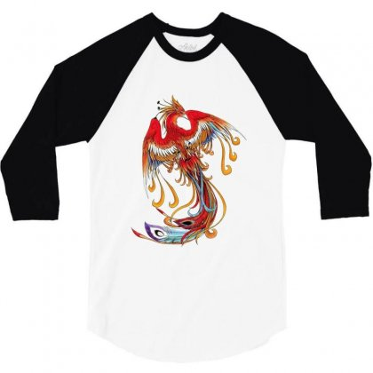 Chinese Wind Phoenix 3/4 Sleeve Shirt Designed By Salmanaz
