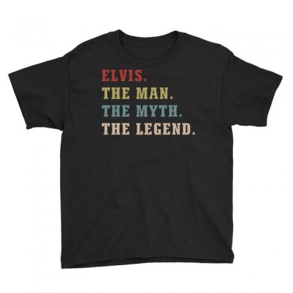 Elvis The Man The Myth The Legends Youth Tee Designed By Artees Artwork