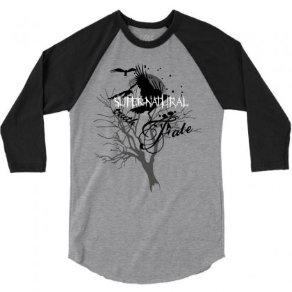 Supernatural Crows 3/4 Sleeve Shirt Designed By Allstreet