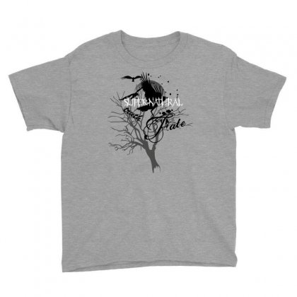 Supernatural Crows Youth Tee Designed By Allstreet