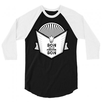 Awesome Son 3/4 Sleeve Shirt Designed By Banjarstore