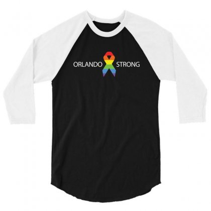 Pray For Orlando Lgbt Supporter Orlando Strong Gay Pride Tee 3/4 Sleeve Shirt Designed By Hung
