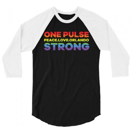 One Pulse Peace.love.orlando Strong T Shirt 3/4 Sleeve Shirt Designed By Hung