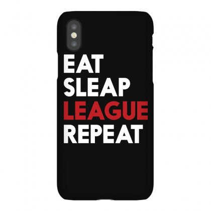 Gamer Lol Eat Sleep League Repeat T Shirt 2016 Iphonex Case Designed By Hung