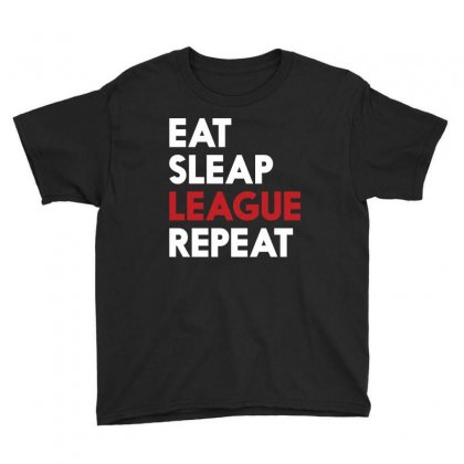 Gamer Lol Eat Sleep League Repeat T Shirt 2016 Youth Tee Designed By Hung