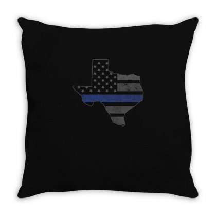 Texas Dallas Blue Line Shirts Throw Pillow Designed By Hung