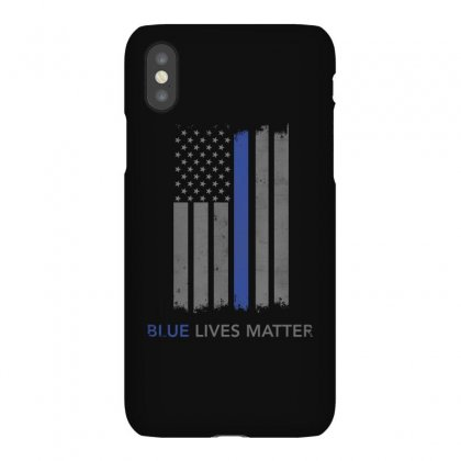 Blue Lives Matter Thin Blue Line Shirt Support Police Iphonex Case Designed By Hung