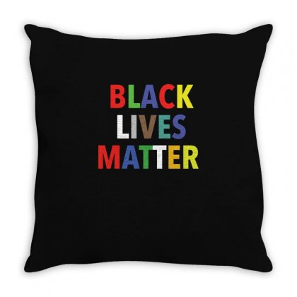 Black Lives Matter Multi Color T Shirt Throw Pillow Designed By Hung