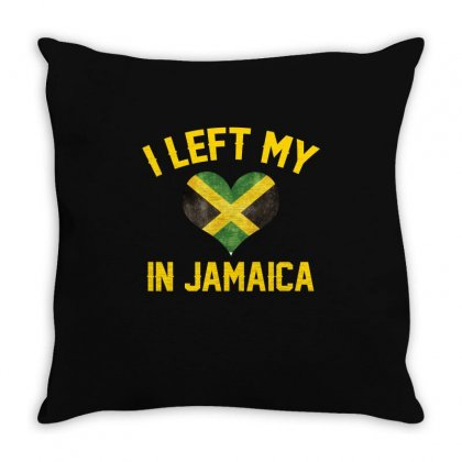 I Left My Heart In Jamaica T Shirt Throw Pillow Designed By Hung