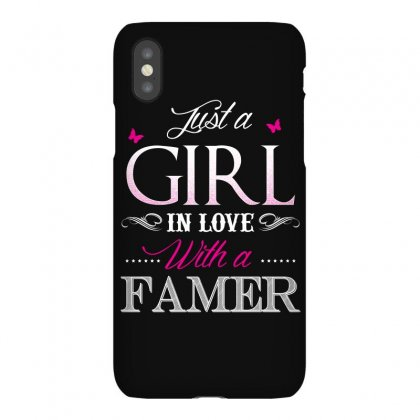 Farmer T Shirt   Just A Girl In Love With A Farmer Iphonex Case Designed By Hung