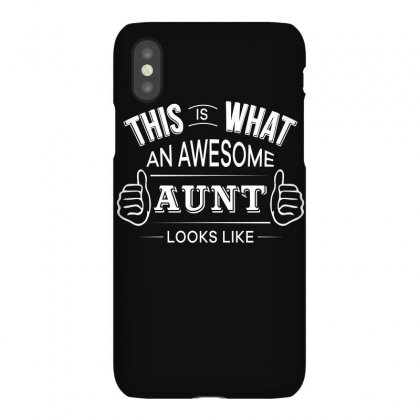 Aunt T Shirt   Awesome Aunt Funny Tee Iphonex Case Designed By Hung