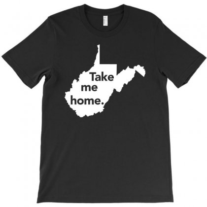 West Virginia Take Me Home Distressed Vintage State T Shirt T-shirt Designed By Hung