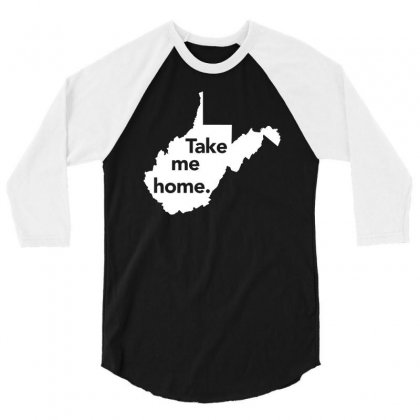 West Virginia Take Me Home Distressed Vintage State T Shirt 3/4 Sleeve Shirt Designed By Hung