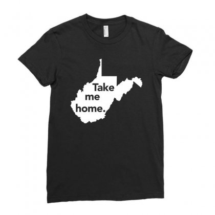 West Virginia Take Me Home Distressed Vintage State T Shirt Ladies Fitted T-shirt Designed By Hung