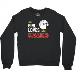 sports this girl loves cava liers basketball tshirt Crewneck Sweatshirt | Artistshot