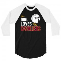sports this girl loves cava liers basketball tshirt 3/4 Sleeve Shirt | Artistshot
