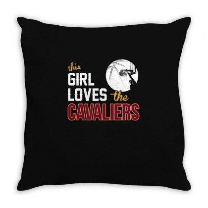 Sports This Girl Loves Cava Liers Basketball Tshirt Throw Pillow Designed By Hung
