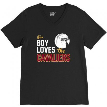 Sports This Boy Loves Cav Aliers Basketball Tshirt V-neck Tee Designed By Hung