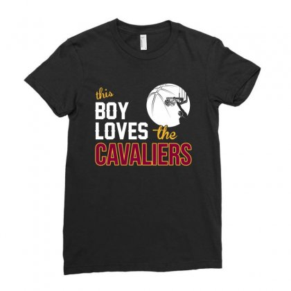 Sports This Boy Loves Cav Aliers Basketball Tshirt Ladies Fitted T-shirt Designed By Hung