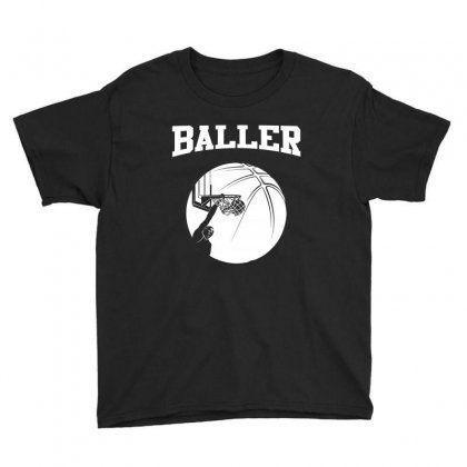 Baller Basketball Short Sleeved Tee Shirt Youth Tee Designed By Hung