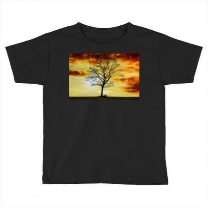 Branches Dawn Dusk Fall Toddler T-shirt Designed By Salmanaz