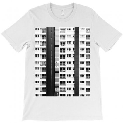 White And Black City Buildings T-shirt Designed By Salmanaz