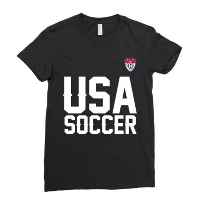 Usa Soccer T Shirt Ladies Fitted T-shirt Designed By Hung