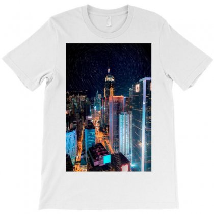 High Rise Buildings With Lights T-shirt Designed By Salmanaz