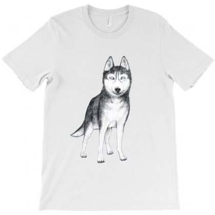 Husky T-shirt Designed By Tiococacola