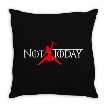 Not Today   White Text Throw Pillow Designed By Blqs Apparel