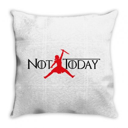 Not Today   Black Text Throw Pillow Designed By Blqs Apparel