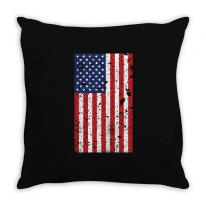 United States Of America Flag Vintage T Shirt Flag Shirts Throw Pillow Designed By Hung