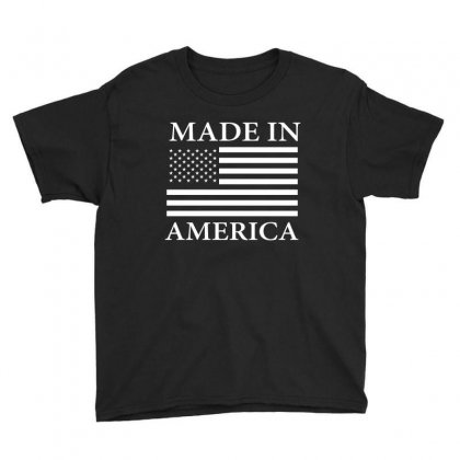 Made In America Usa Flag T Shirts Youth Tee Designed By Hung