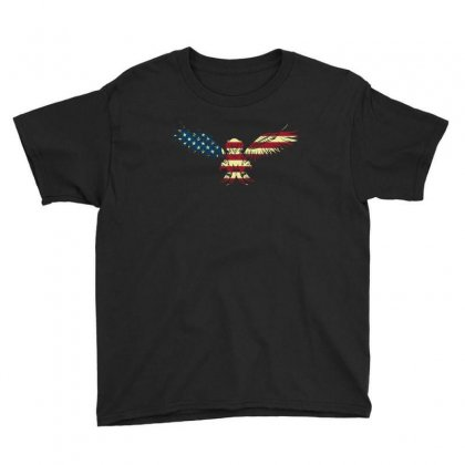 Eagle Flag T Shirt 4th Of July Shirts Usa T Shirt Youth Tee Designed By Hung