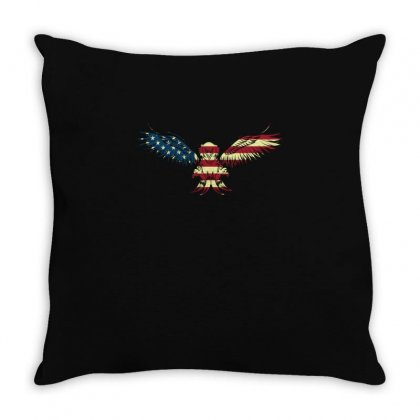 Eagle Flag T Shirt 4th Of July Shirts Usa T Shirt Throw Pillow Designed By Hung