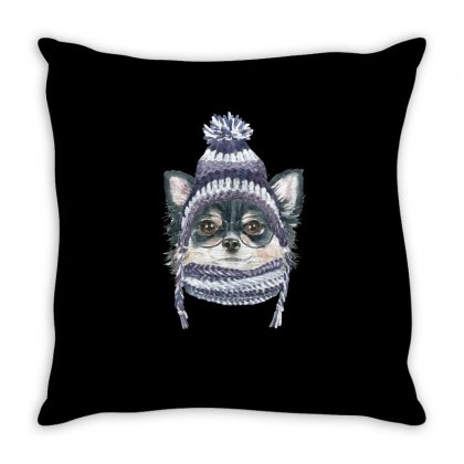 Cool Puppy (dog) Throw Pillow Designed By Tiococacola